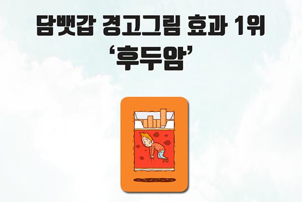 담뱃갑 경고그림 효과 1위 '후두암'